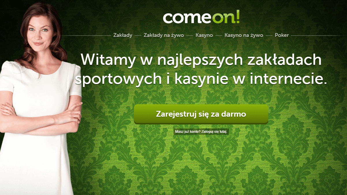 ComeOn bukmacher i kasyno online