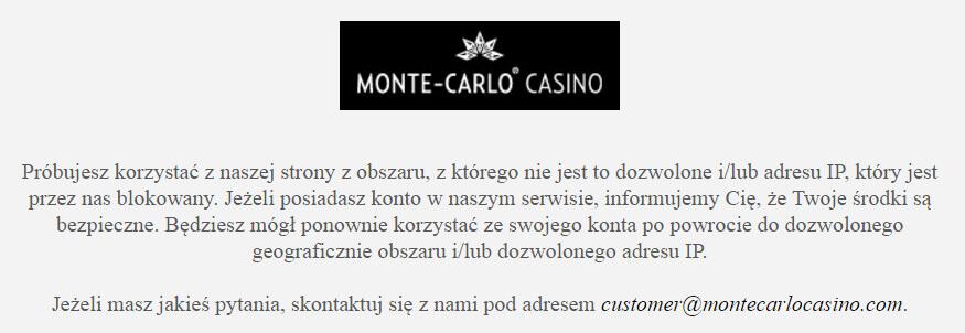 Monte Carlo Casino nie działa