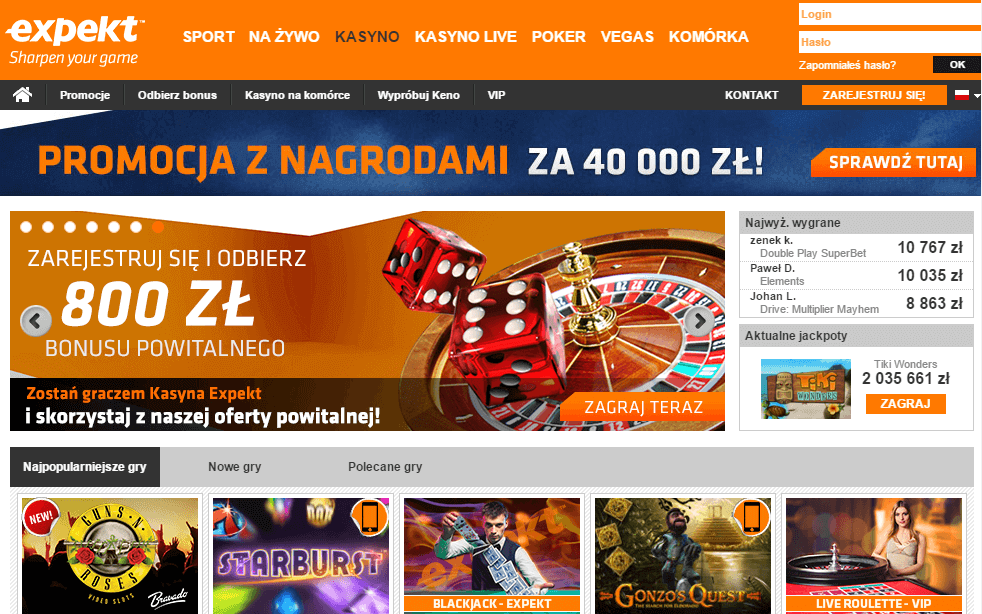 Expekt casino kod promocyjny