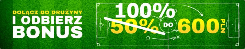 forbet bonus 100% do 600 złotych