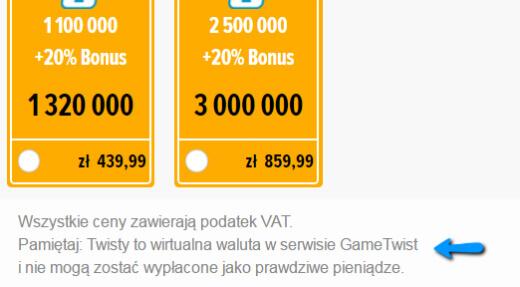 Wypłacić Gametwisty
