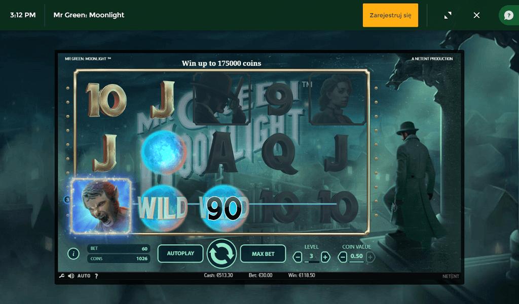 MrGreen Moonlight automat o gry