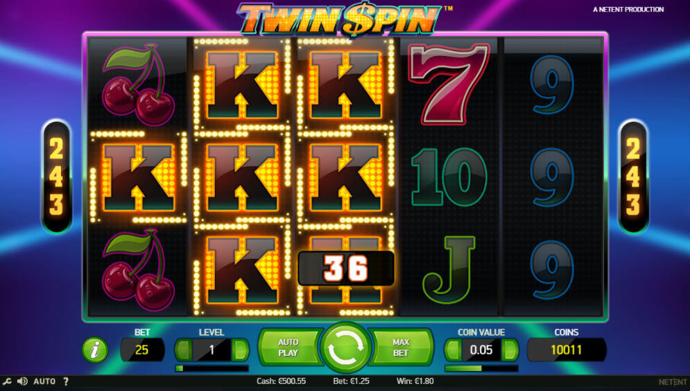 Klasyczne automay. Twin spin w MrGreen casino