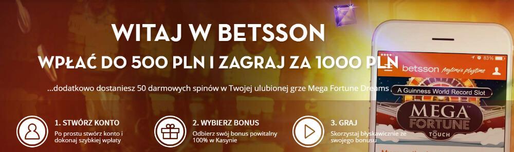 Betsson bonus kasynowy