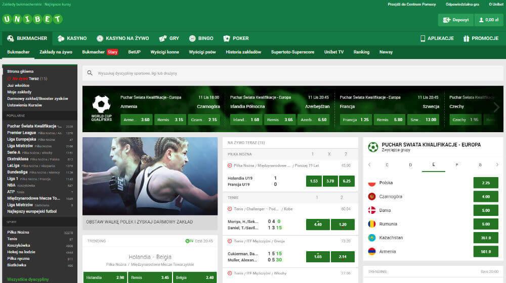 Unibet zakłady bukmacherskie online