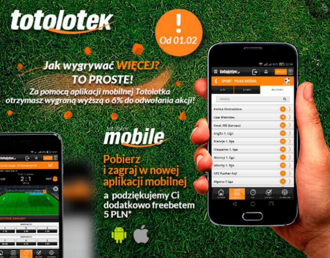 Totolotek mobile freebet