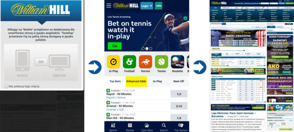 William Hill mobile - zakłady na smartfonie