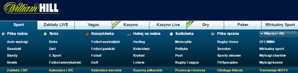 William Hill zakłady bukmacherskie