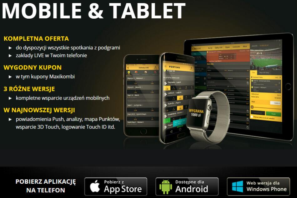 Fortuna mobile - zakłady mobilne