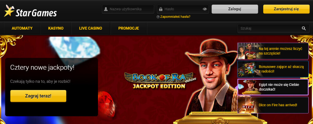 Stargames - legalne kasyno online?