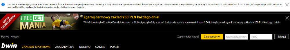 bwin.pl - kod bonusowy?