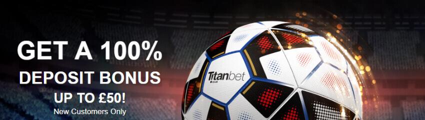 Titanbet bonus do 50 GBP