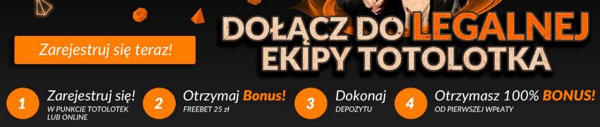 Totolotek bonus freebet