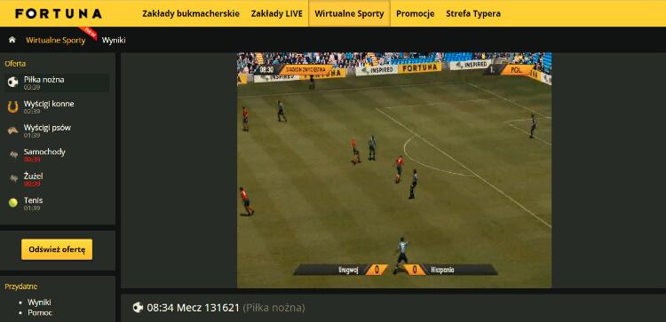 Sporty wirtualne Fortuna