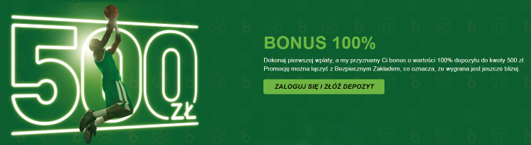 TOTALbet bonus 100% do 500 zł