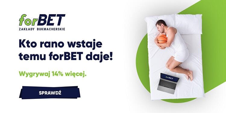 forBET bez podatku - bonus +14%