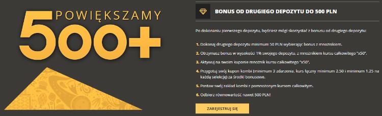 LVbet bonus 500+