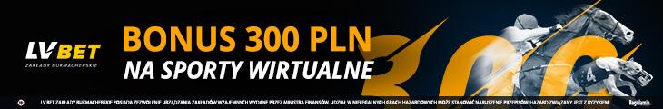 LV BET bonus - sporty wirtualne