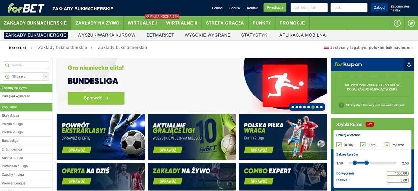 forBET zakłady bukmacherskie - oferta online