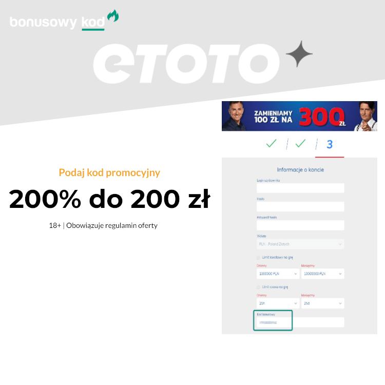eToto kod bonusowy