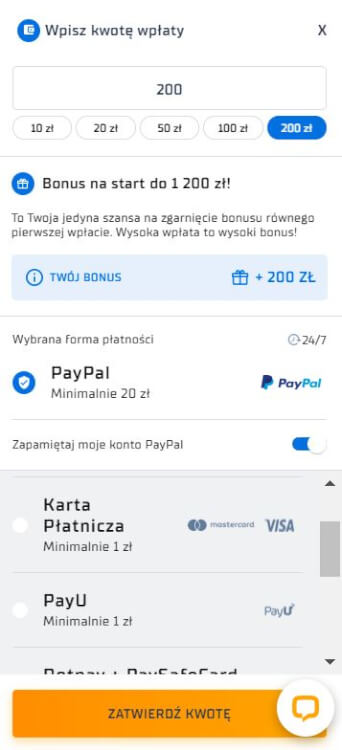 STS PayPal płatność
