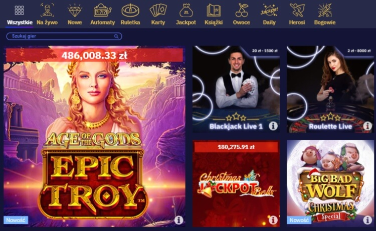 Total Casino gry