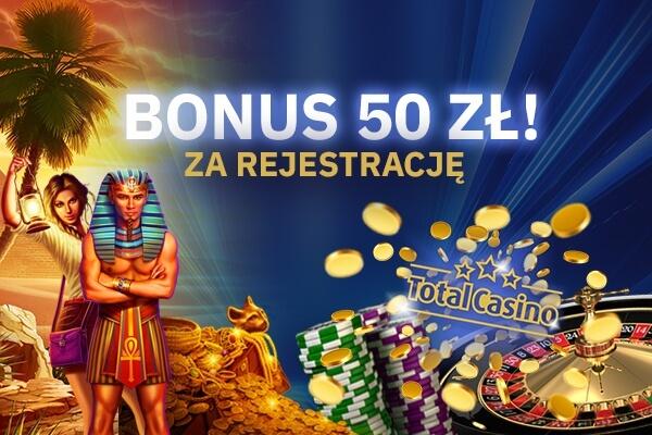 Total Casino bonus za rejestrację